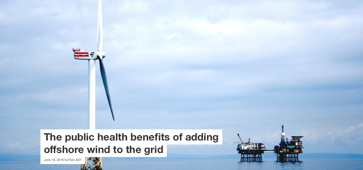 "The Conversation:  ""The public health benefits of adding offshore wind to the grid"""
